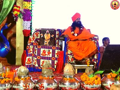 Satsang of H. H. Shree Shree Shree Sadguru Bhau Maharaj ji at Etawah, Uttar Pradesh.